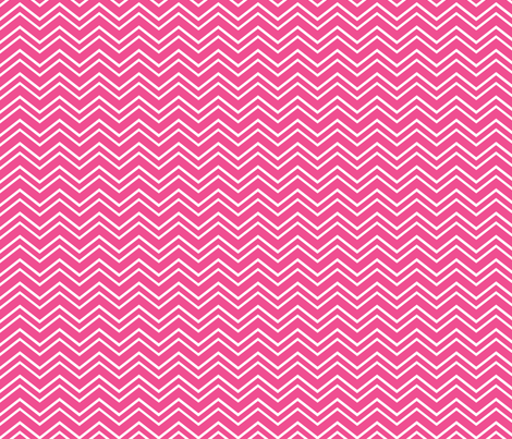 chevron no2 dark pink and white fabric by misstiina on Spoonflower - custom fabric