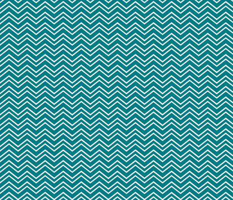 chevron no2 dark teal and white fabric by misstiina on Spoonflower - custom fabric