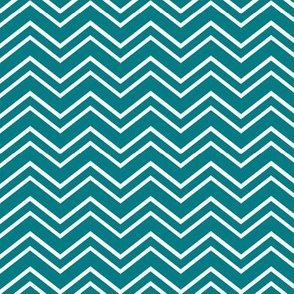 chevron no2 dark teal and white
