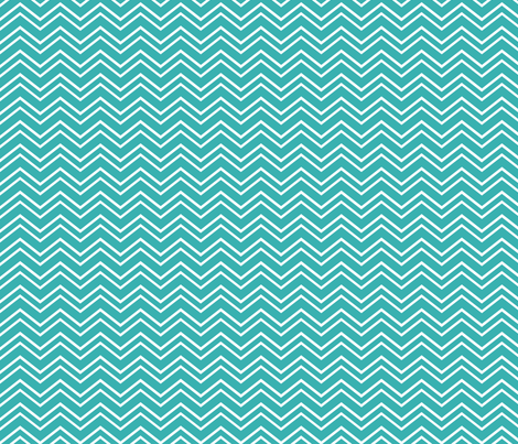 chevron no2 teal fabric by misstiina on Spoonflower - custom fabric