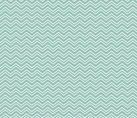 chevron no2 faded teal and white fabric by misstiina on Spoonflower - custom fabric