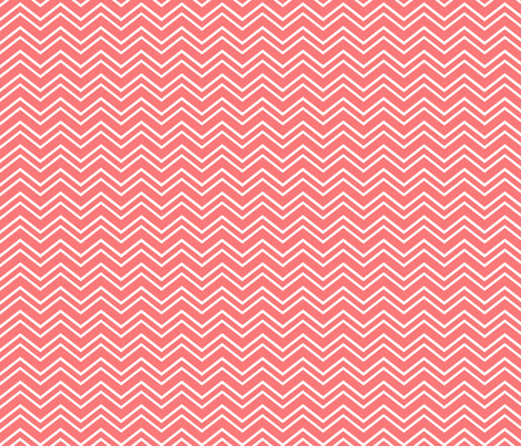 chevron no2 coral and white fabric by misstiina on Spoonflower - custom fabric