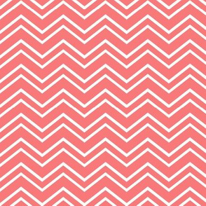 chevron no2 coral and white