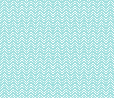 chevron no2 light teal fabric by misstiina on Spoonflower - custom fabric