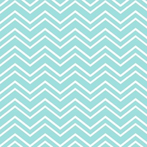 chevron no2 teal and white
