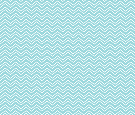 chevron no2 teal and white fabric by misstiina on Spoonflower - custom fabric