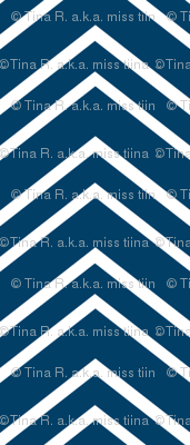 chevron no2 navy blue