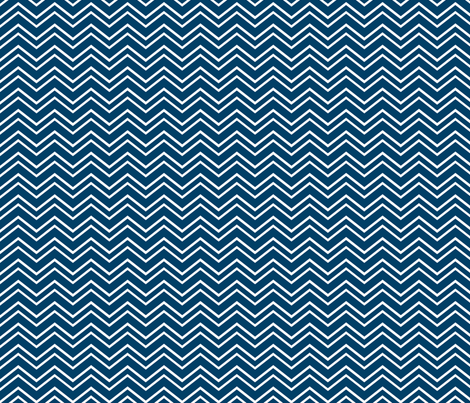 chevron no2 navy blue and white fabric by misstiina on Spoonflower - custom fabric
