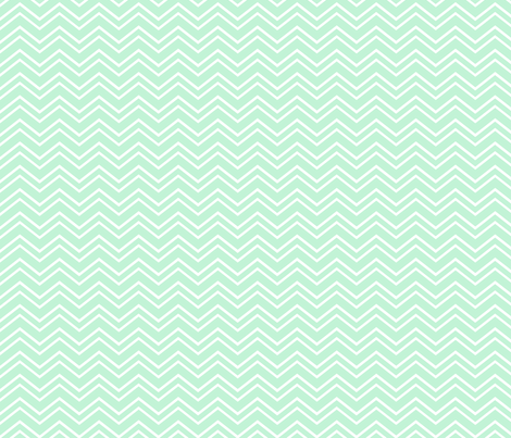 chevron no2 ice mint green fabric by misstiina on Spoonflower - custom fabric