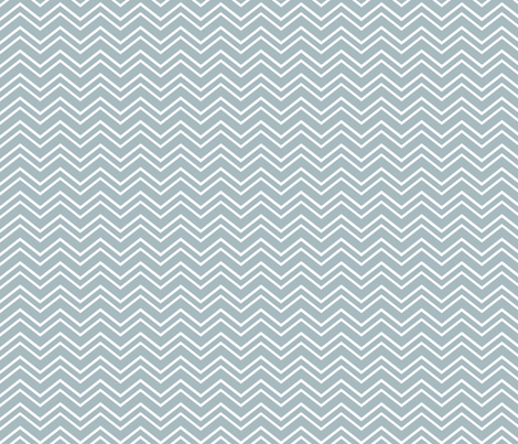 chevron no2 slate blue and white fabric by misstiina on Spoonflower - custom fabric