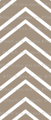 chevron no2 tan and white