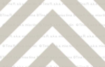 chevron pinstripes beige and white