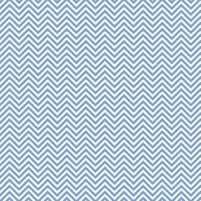 chevron pinstripes cornflower blue