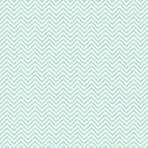 chevron pinstripes mint green and white
