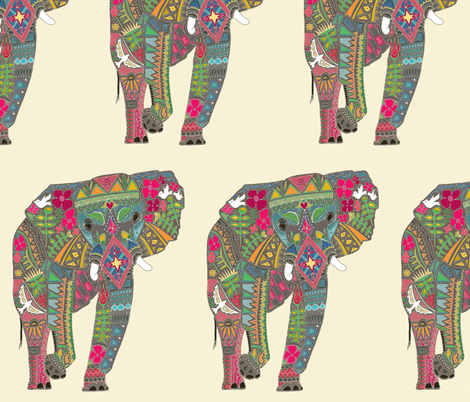 painted elephant fabric by scrummy on Spoonflower - custom fabric