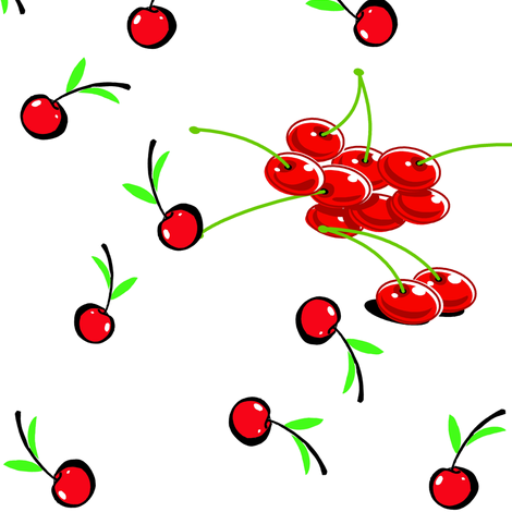 MANHATTAN CHERRIES fabric by bluevelvet on Spoonflower - custom fabric