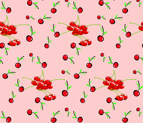 MANHATTAN CHERRY fabric by bluevelvet on Spoonflower - custom fabric