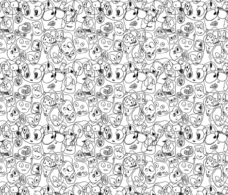Stop looking at me! fabric by edi_rogers on Spoonflower - custom fabric