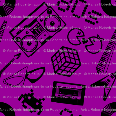 80s Icons on purple