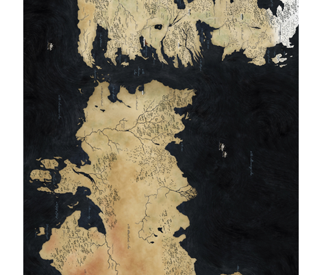 Game of Thrones Map fabric by donk146 on Spoonflower - custom fabric
