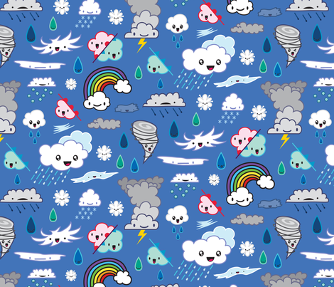 KawaiiWeather fabric by caitlinrose on Spoonflower - custom fabric