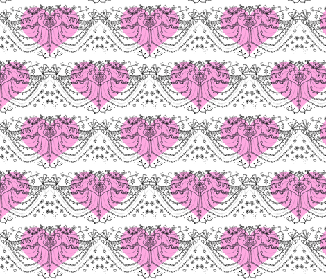 Valentine Swags fabric by boris_thumbkin on Spoonflower - custom fabric