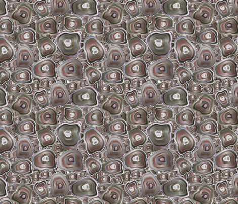 agate mosaic in grey fabric by kociara on Spoonflower - custom fabric