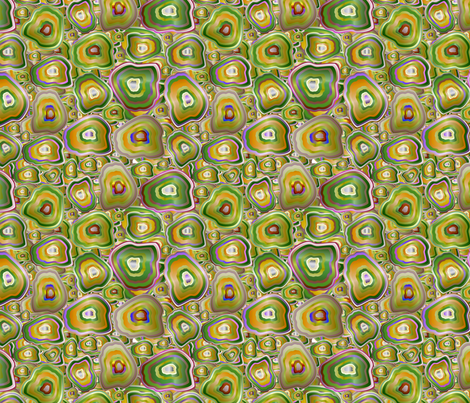 agate mosaic in yellow fabric by kociara on Spoonflower - custom fabric
