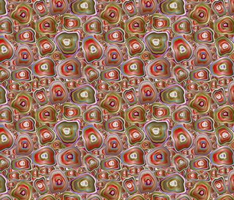 agate mosaic in red fabric by kociara on Spoonflower - custom fabric
