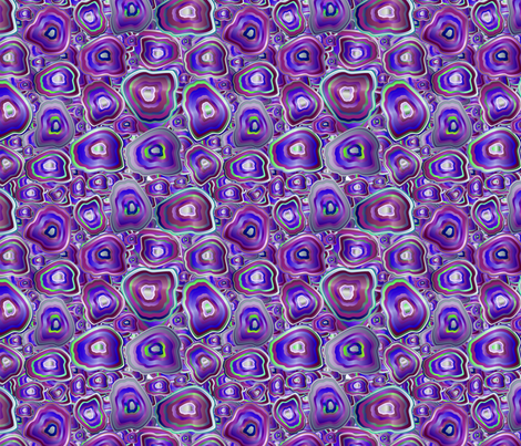 agate mosaic in violet fabric by kociara on Spoonflower - custom fabric