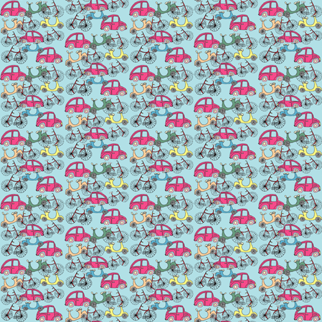 Blue_Zoom_Zoom Zoom fabric by evelynrosedesigns on Spoonflower - custom fabric