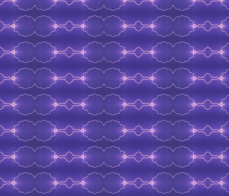 Lightning Arcs on purple fabric by onestitchdesigns on Spoonflower - custom fabric