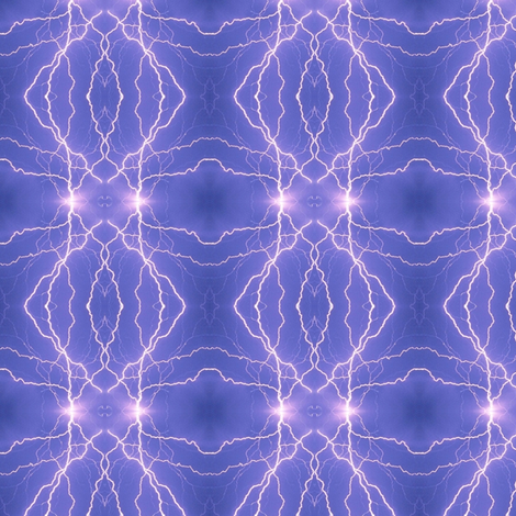 Small Lightning Diamonds in Blue fabric by onestitchdesigns on Spoonflower - custom fabric