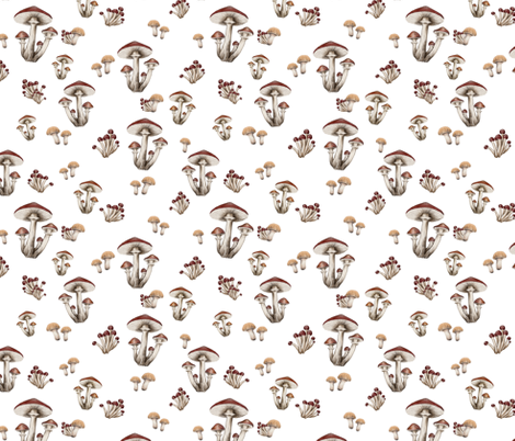 Forest Floor on White fabric by thistleandfox on Spoonflower - custom fabric