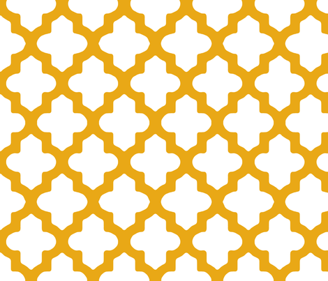 Moroccan Honey Gold fabric by fridabarlow on Spoonflower - custom fabric
