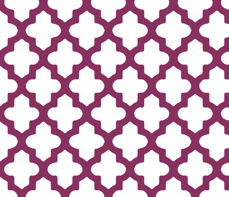 Moroccan_Grape fabric by fridabarlow on Spoonflower - custom fabric