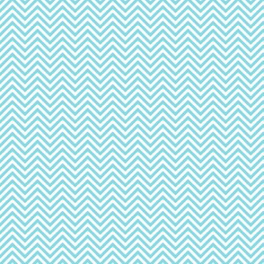 chevron pinstripes sky blue