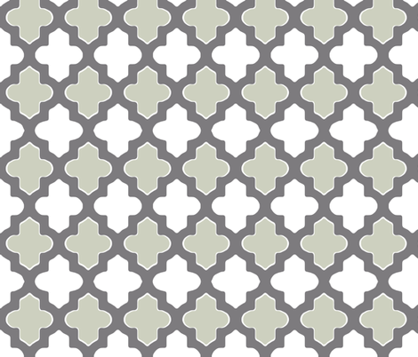 Moroccan Dual Gray fabric by fridabarlow on Spoonflower - custom fabric
