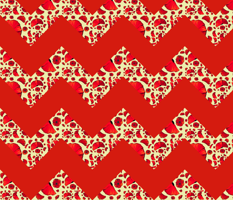 poppy red chevron fabric by mojiarts on Spoonflower - custom fabric