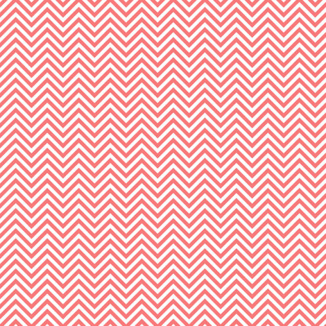 chevron pinstripes coral and white