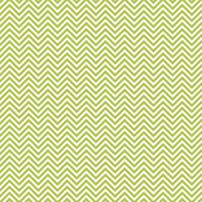 chevron pinstripes lime green and white