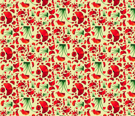 poppy ditsy 2 fabric by mojiarts on Spoonflower - custom fabric