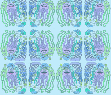 Smile 'n' Wave fabric by graceful on Spoonflower - custom fabric