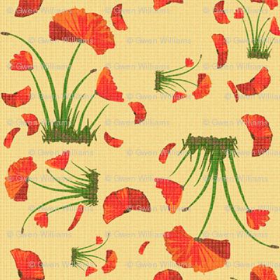 poppies linen