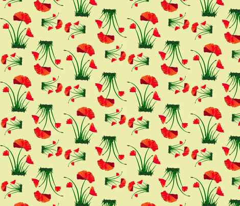 poppies 2 fabric by mojiarts on Spoonflower - custom fabric