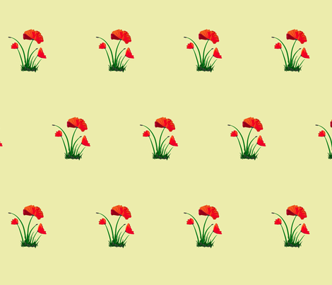 poppy fabric by mojiarts on Spoonflower - custom fabric