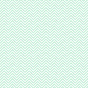 chevron pinstripes ice mint green
