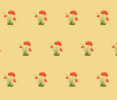poppy linen fabric by mojiarts on Spoonflower - custom fabric