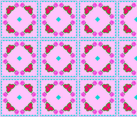 EmbroideryRose2-good-colored fabric by grannynan on Spoonflower - custom fabric