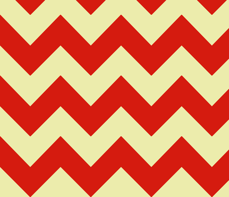 poppy red yellow chevron fabric by mojiarts on Spoonflower - custom fabric